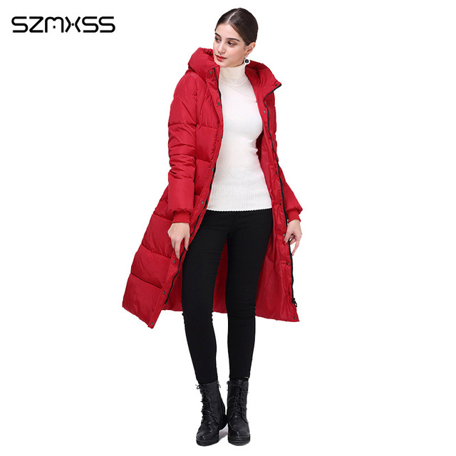 2018 new winter parka women fashion trend Slim cotton coat and long hooded solid color warm cotton clothing long sleeve mujer 2