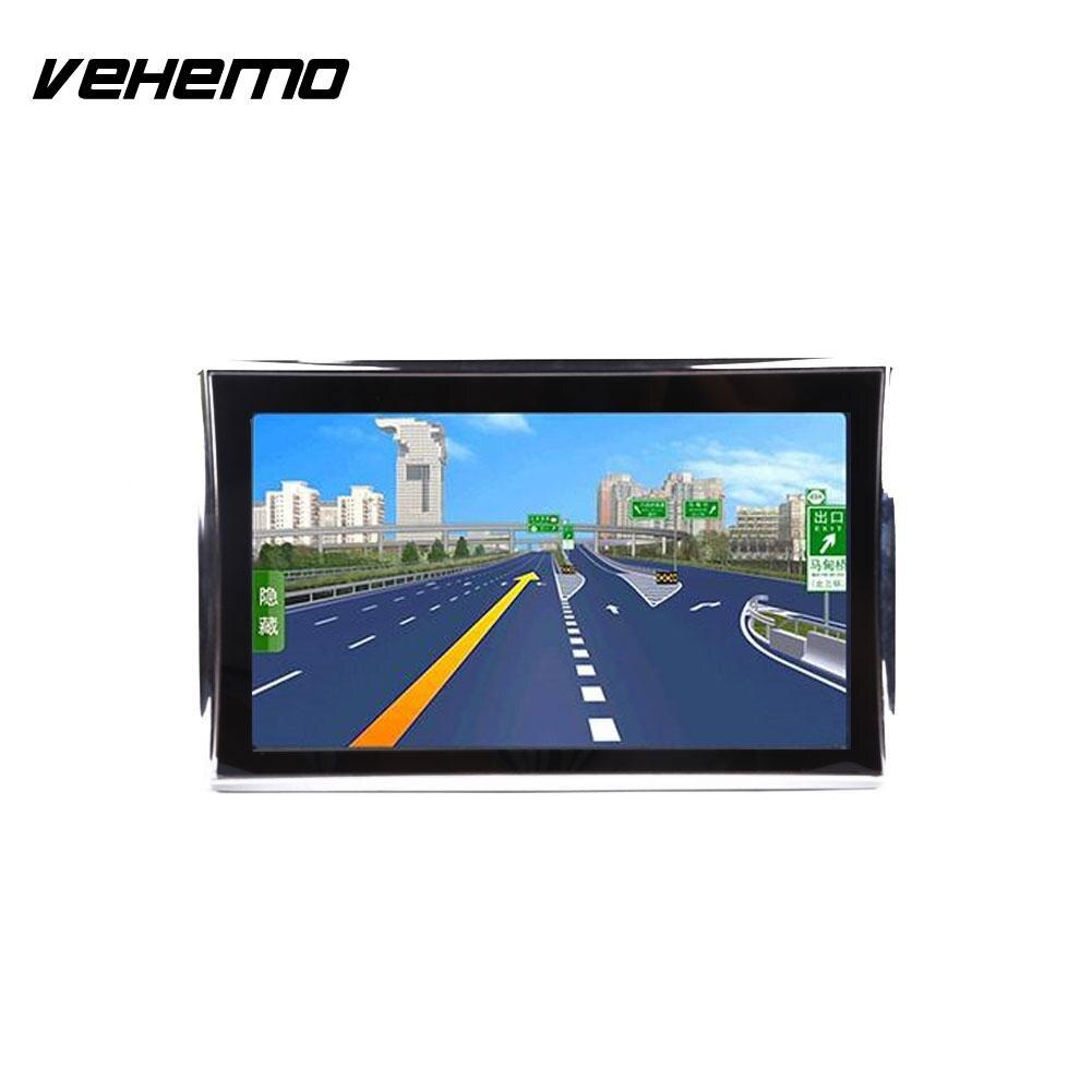 Vehemo Car 7 HD LCD Touch Screen Free EU Map Navigator NAV FM Video Play Portable