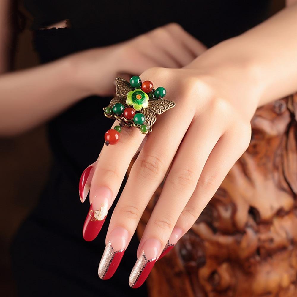 new romantic nueva moda anillos de boda hechos a mano de estilo chino regalo de