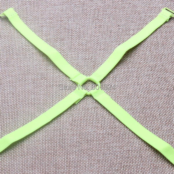 1cm Neon candy solid color elastic shoulder bra strap back cross slip-resistant underwear bra with /Fashion bra strap 4