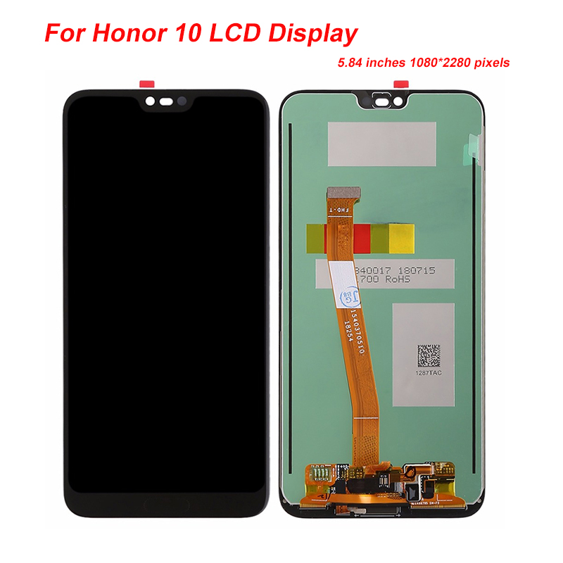 Original Tested 5.8 For Huawei Honor 10 honor10 LCD Display Touch Screen Digitizer Assembly Replacement fingerprint COL-L29Original Tested 5.8 For Huawei Honor 10 honor10 LCD Display Touch Screen Digitizer Assembly Replacement fingerprint COL-L29