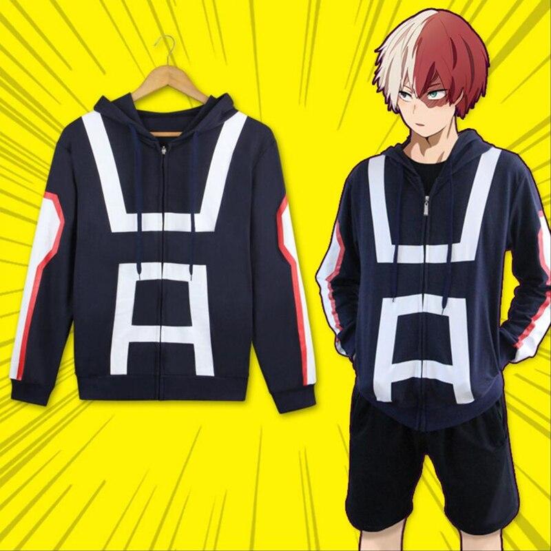 My Boku No Hero Academia Cosplay Kohei Horikoshi Hoodie Gym Sweatshirt Coat Top Men's Clothing