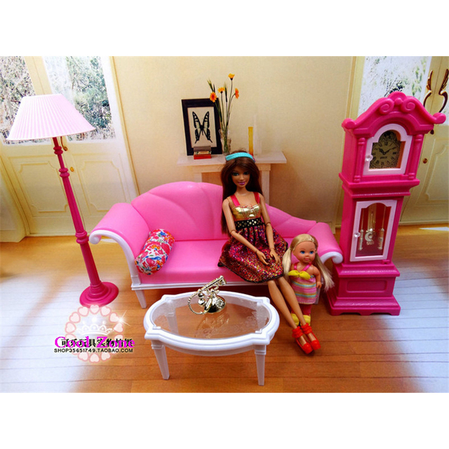 Aliexpresscom buy miniature luxury living room for Barbie living room furniture set