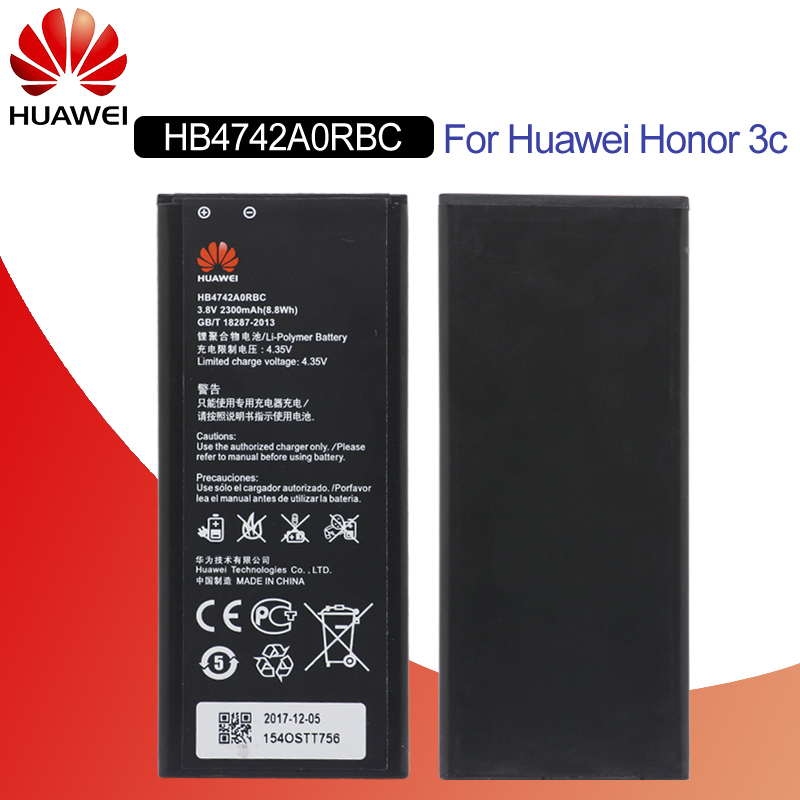Hua Wei Original Phone Battery Hb4742a0rbc/hb4742a0rbw For Huawei Honor 3c G630 G730 G740 H30-t00 2300mah Batteries Mobile Phone Parts