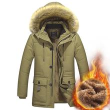 Big fur collar Winter Jacket Men Brand Clothing Casual Slim Thick Warm Mens Coats Parkas With Hooded Long Overcoats Male Clothes brand baby infant girls fur winter warm coat 2018 cloak jacket thick warm clothes baby girl cute hooded long sleeve coats jacket