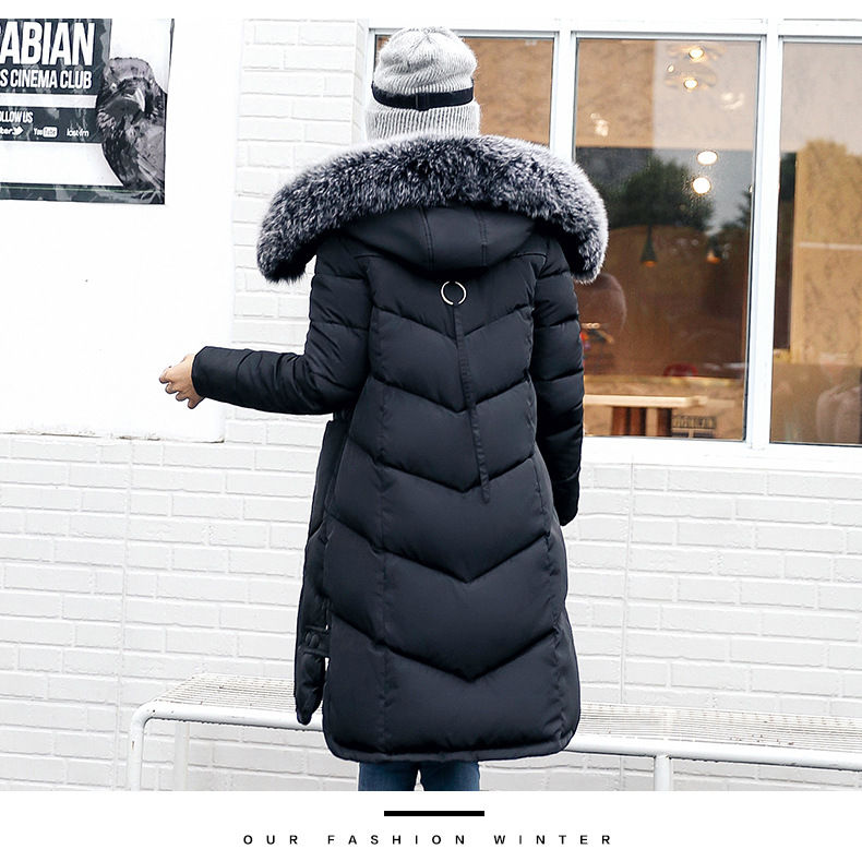 c7f6e12f8fb Women long cutton Coat Jacket with Fur Hat high quality plus size Woman Parka  Winter Thicken Coat Drop Shipping-in Parkas from Women s Clothing   ...