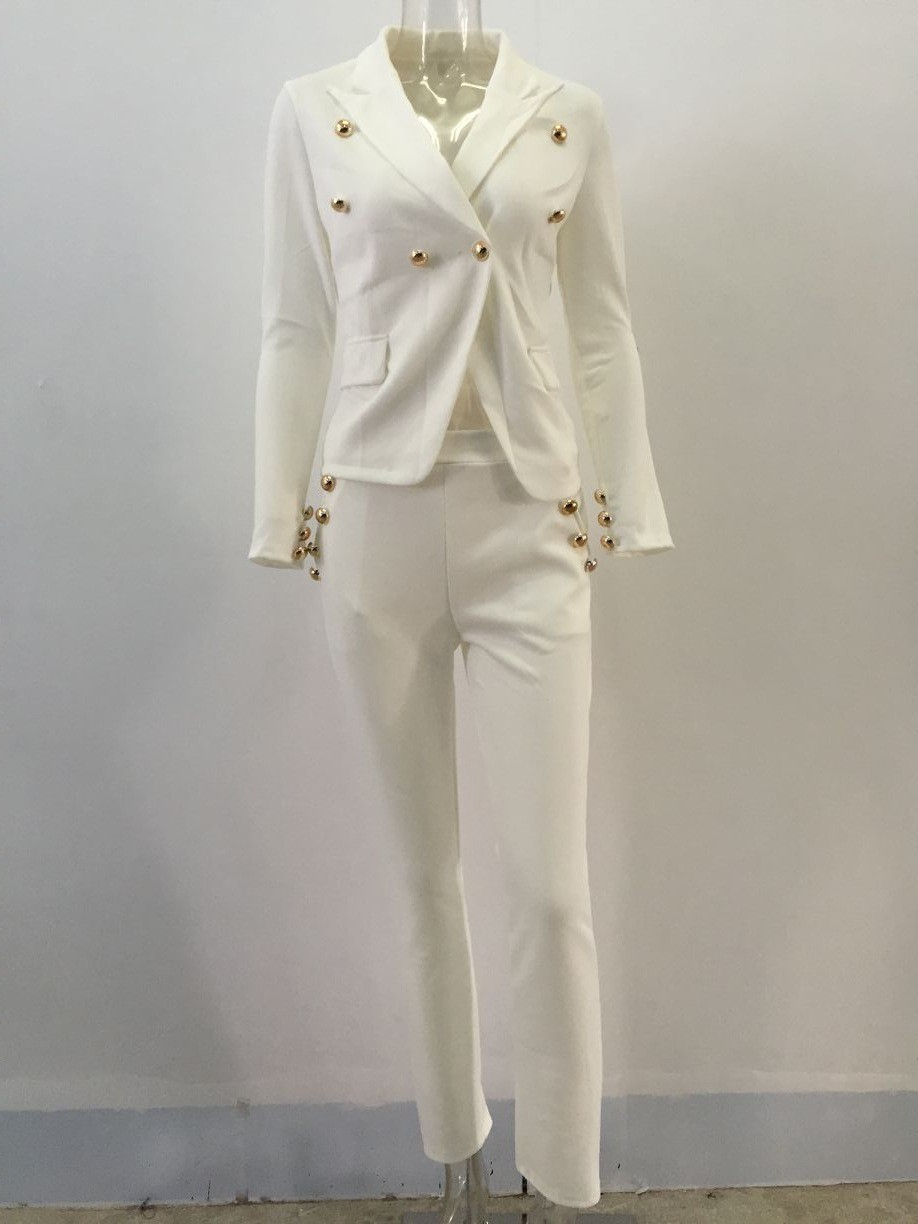 2 Piece Set Women Suit 17 New Formal Office Work Wear Blazer Jacket Tops And Skinny Pants Women Suits Two Piece Set 7