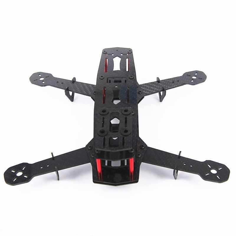 Dla DIY dron FPV jak ZMR250 Q250 Mini obcych w całej pełne włókna węglowego 250mm 250 RC rama quadcoptera zestaw niezmontowane