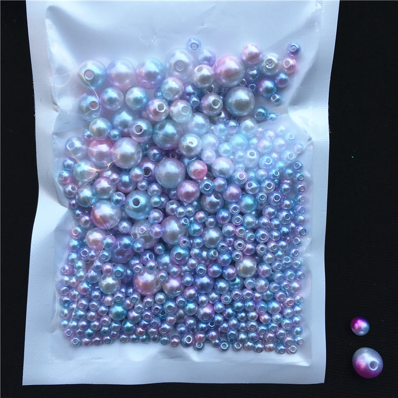 Image 3 - 250Pcs/Pack Mix Size 3/4/5/6/8mm Beads With Hole Colorful Pearls Round Acrylic Imitation Pearl Diy For Jewelry Making Nail Art-in Garment Beads from Home & Garden