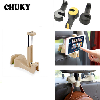 Car Back Seat Headrest Multifunction Hook Auto Holder Mobile Phone Frame for Citroen C5 C4 C3 Berlingo Lada vesta Mazda 6 3 CX-5 image