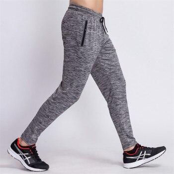 2018 herren Workout Jogginghose Quick Dry Atmungsaktive Hose Männer Fitness Strumpfhosen Joggers Dünne Leggings Männer Turnhallen Sportswear Zipper