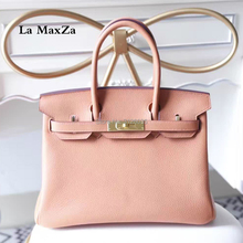 2017 fashion luxury brand runway  bag hand-made  head layer leather bag  cl124852