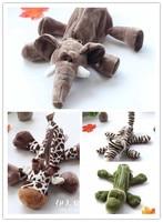 1 шт. 25 см слон жираф, Лев Обезьяна крокодил собака креативный плюшевый пенал студенческий приз мягкая игрушка