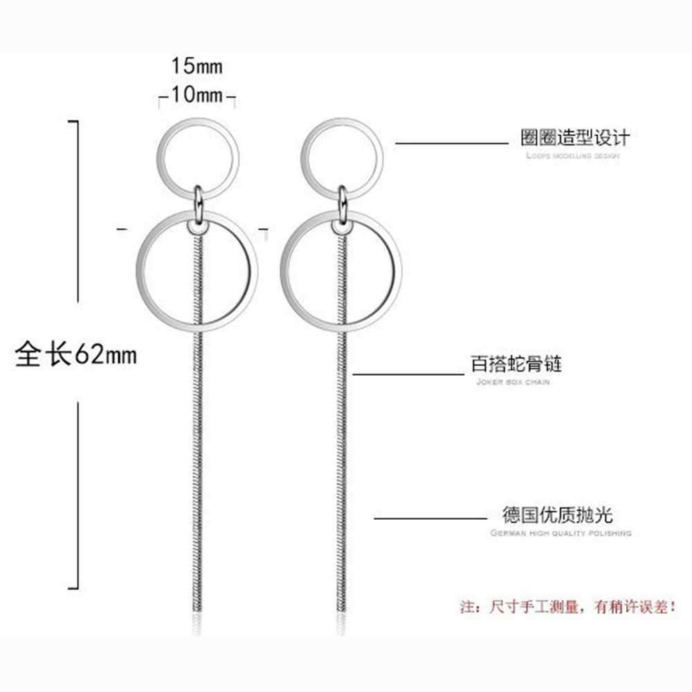XIYANIKE Изысканная простая Мода 925 браслет из чистого серебра длинные сережки с кисточками Ушная линия женские ювелирные изделия Букле d'oreill VES6215