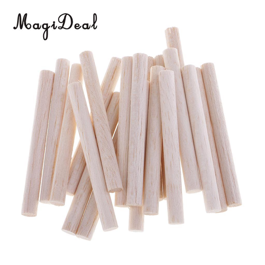 50cm Length Round Birch Wooden Sticks DIY Craft Dowel Rods 16mm Dia Set of 5