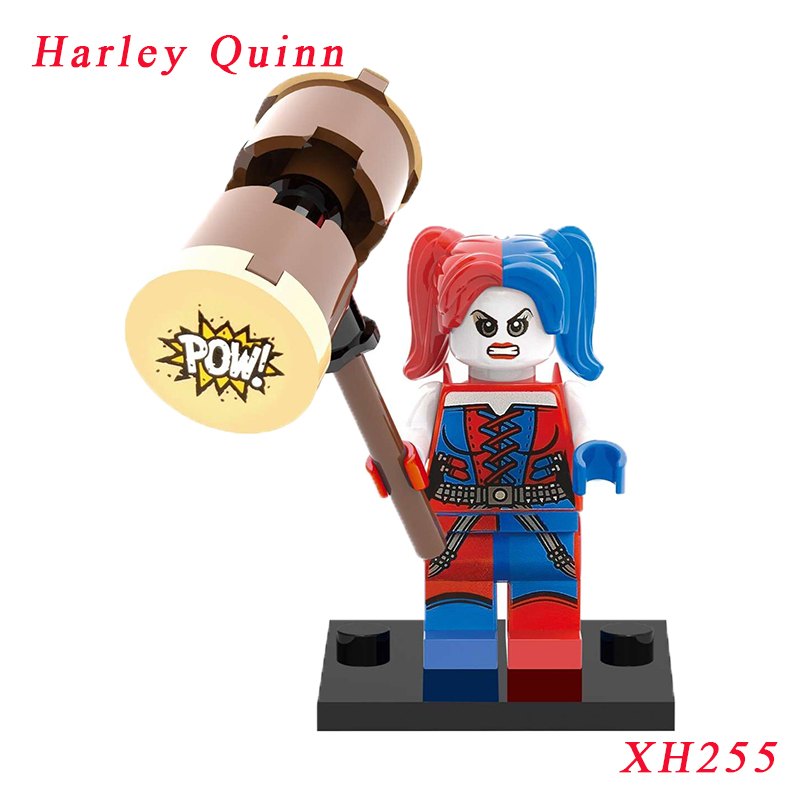 Harley Quinn Diy Bricks Single Sale Suicide Squad Spideman Batman Super Heroes Star Wars Model Building Toy Gift For Children