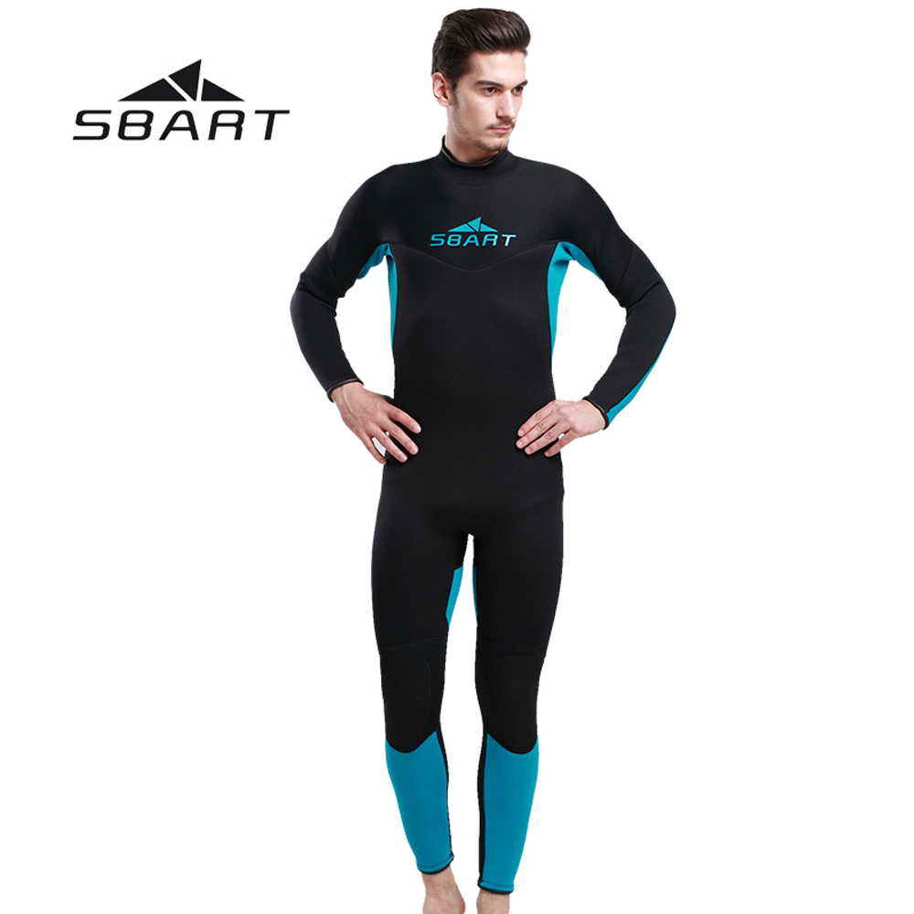 SBART 3mm Neoprene Men Scuba Diving Suit Windsurfing Snorkeling Kite Surfing Wetsuit Fishing Spearfishing Full Body Swimwear sbart 3mm neoprene men camouflage full body wetsuit spearfishing fishing swimwear scuba diving suit jumpsuit snorkeling wetsuit