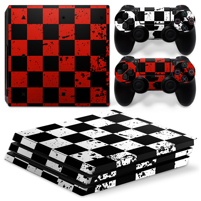 Gaming Accessories WaterPROof  wrap skin sticker for PS4 PRO console and 2 controller Vinyl