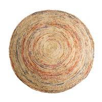 100% натуральный экологичный джутовая пряжа Индия Импорт ручной вязки круглый ковер джутовый цвет гостиная спальня ковер