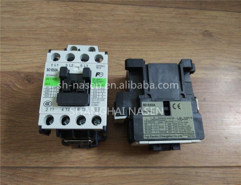 FUJI contactor SC-E02A SE09AAA-C AC100VFUJI contactor SC-E02A SE09AAA-C AC100V