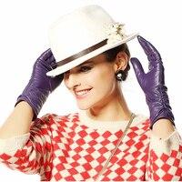 Kobiety Skórzane Rękawiczki Kobieta Średniej Długości Kożuch Bielizna Termiczna Rękawice Zimowe Rękawiczki Wysokiej Guality Bezpłatna Wysyłka