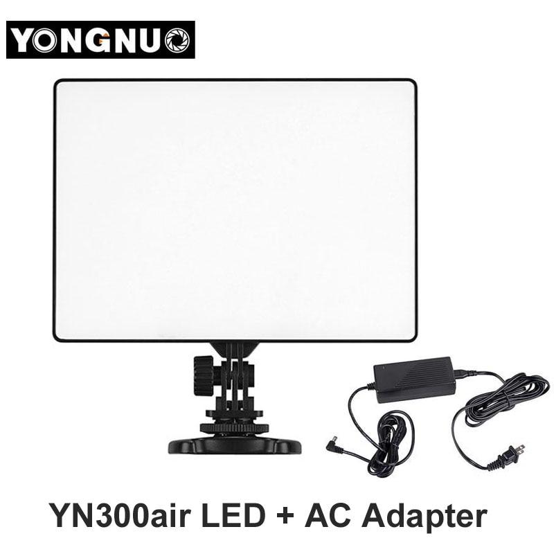 bilder für Yongnuo yn300 yn-300 air led-kamera-videoleuchte 3200 karat-5500 karat mit ac adapter für canon nikon kamera dslr & camcorder