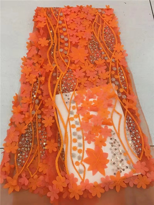 Fashion Embroidery African Bridal French Lace Fabric Nigerian Party Tulle French Lace Fa ...
