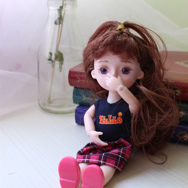 Bjd Doll 15cm Random Clothes And Shoes Girls Dress Up Dolls 14 Joint BJD Doll Toys with 3D Eyeball Kids Gift Baby Toys for Girl in Dolls from Toys Hobbies