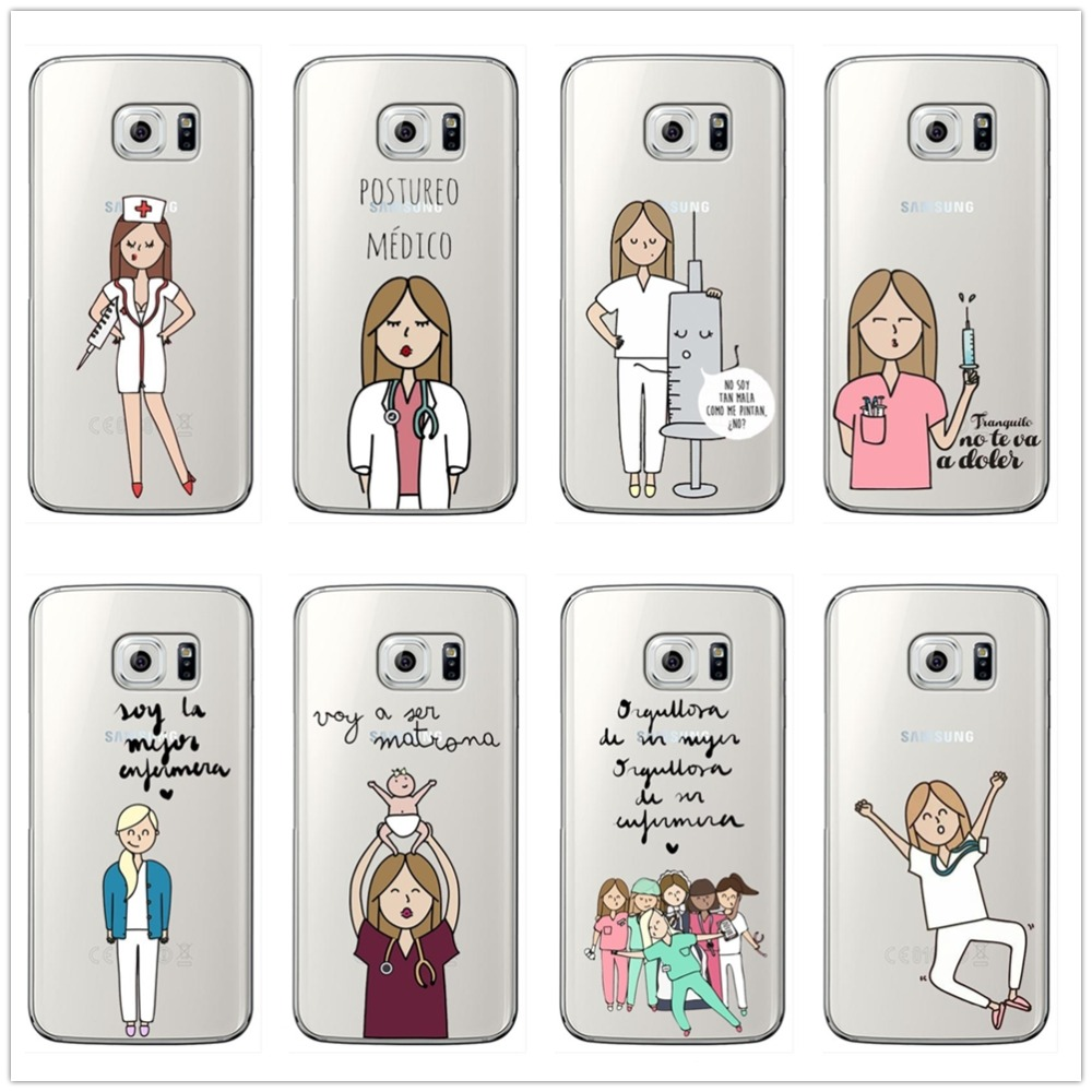 Phone Bags & Cases Bff Spain Cartoon Nurse Doctor Best Friends Soft Clear Transparent Phone Case For Samsung S6 Edge Plus S7 Edge S8 S9 Plus Note9