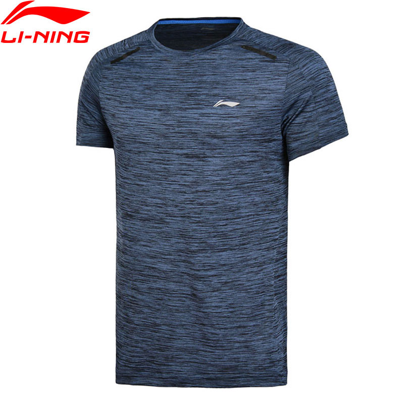 Li-Ning Men Training Series T-Shirt Slim Fit Breathable Comfort LiNing Short Sleeve Sports Tee Exercise T-shirt ATSN021 MTS2735 billabong men s thirsty surf short sleeve t shirt