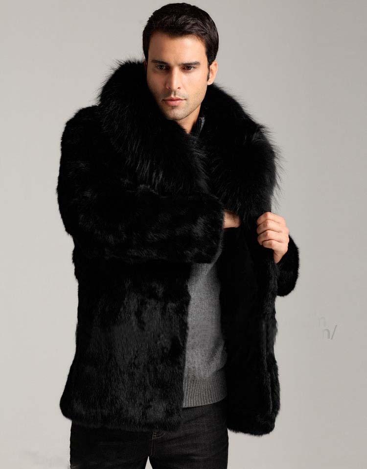 Aliexpress.com : Buy men faux mink fur coat fox fur collar warm