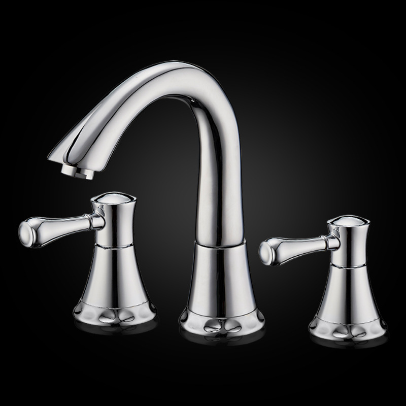 Luxury 8 Inches Widespread Lavatory Basin Faucet 3 Holes