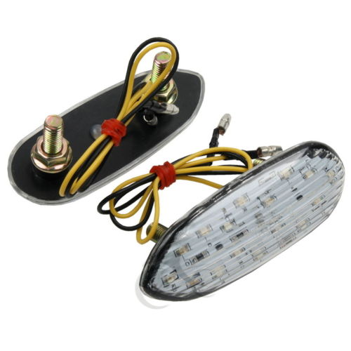 Mirror Block Off LED Turn Signals Indicator Flasher For Suzuki  GSXR 600 GSXR 1000 01-13 GSXR 750 00-13 GSXR 1300 Hayabusa 99-13