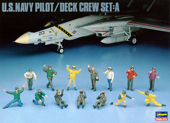 1/48 U.S. Navy  Pilots and Ground Crew Set A Carrier Deck 36006 - discount item  5% OFF Building & Construction Toys