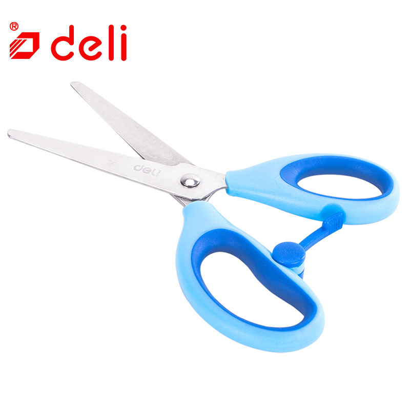 Deli Useful Safe Children Scissors Student Stationery Art DIY Scissors Decorative Paper Border Scrapbook Artwork Card Scissors