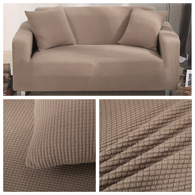 RZCORTINAS Solid Velvet Sofa Covers for Living Room Sectional and L Shaped Sofa 1