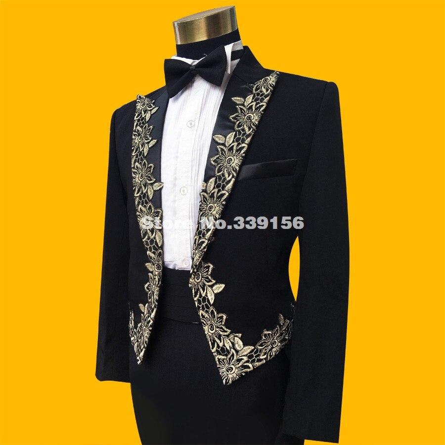 2017 New Arrival Black Wedding Tuxedo Suits Fashion Mens Slim ...