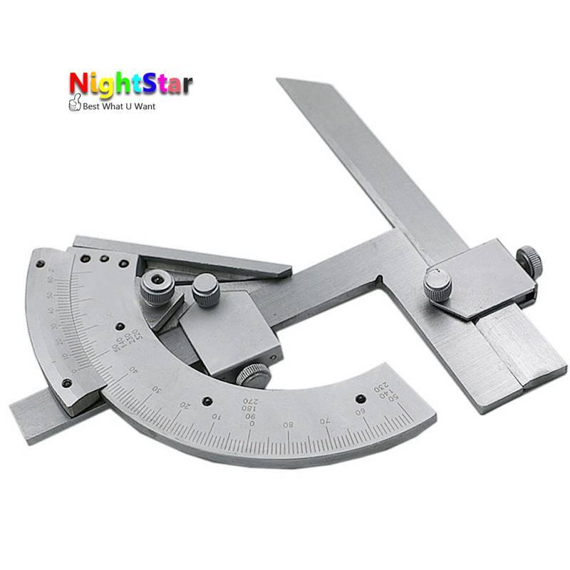 Bisel universal Transportadores 0-320 grados precisión ángulo buscador de medición regla herramienta partes internas y externas
