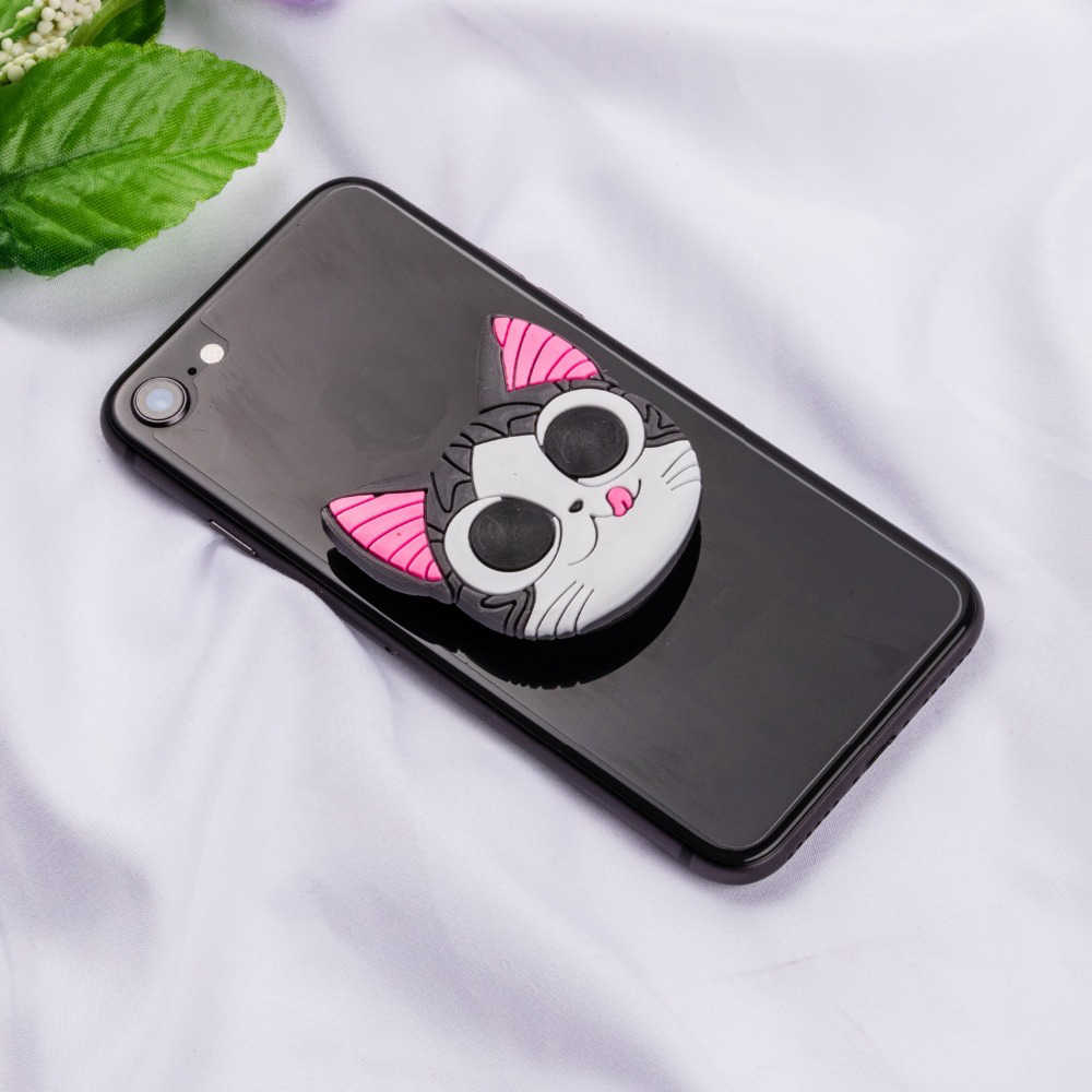 Soporte de toma Universal para teléfono móvil con diseño de oso de dibujos animados en 3D