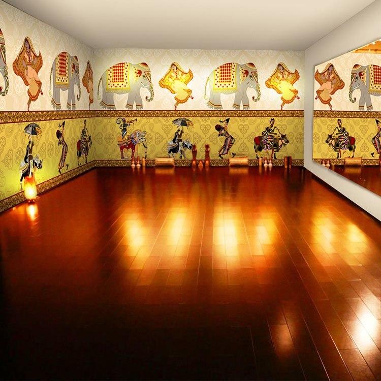 Aliexpress com   Buy Free shipping Dance room yoga retro wallpaper  Southeast Asian ethnic style restaurant 3D mural dance themed rooms custom  size from. Aliexpress com   Buy Free shipping Dance room yoga retro wallpaper