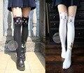 Anime Sailor Moon Cosplay Luna Gato Patrón Mujeres Patrón Panti Medias Medias Calcetines de la Muchacha Medias Negro Y Blanco