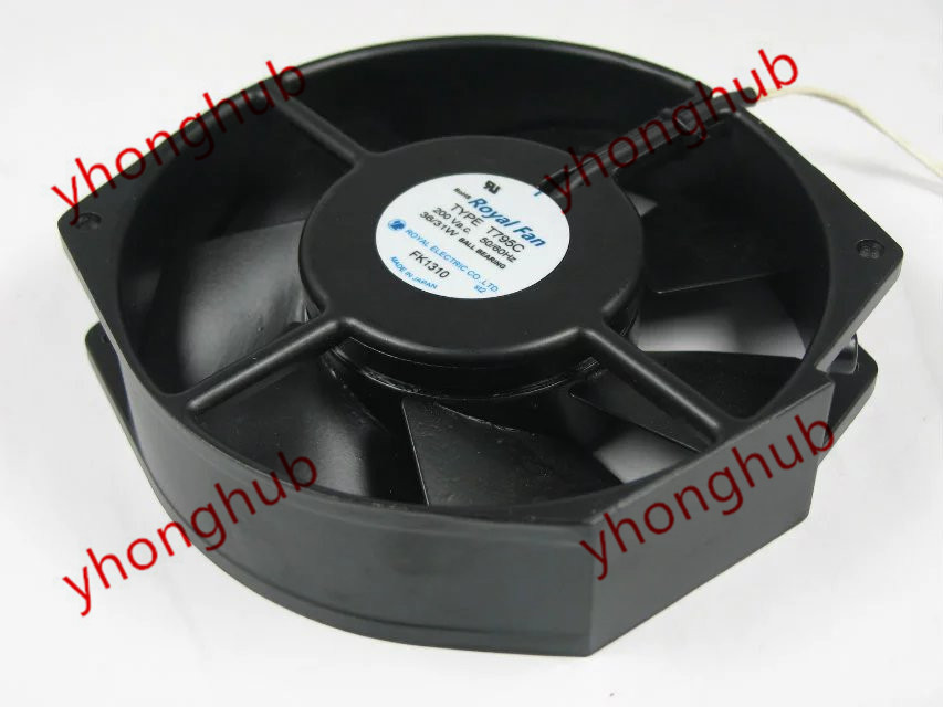 Emacro For Royal Fan TYPE T795C AC 200V 36/31W 172x150x38mm Server Round Fan free shipping emacro centautr cn52b3 ac 200v 0 11 0 09a 2 pin 120x20x38mm server square cooling fan