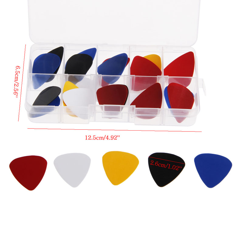 24Pcs Acoustic Electric Guitar ABS Picks Plectrum Plectra Various 0.50mm