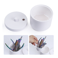 1 Pc White Sterilizer Box Metal Equipment Tool Cleaning Disinfection Storage Manicure Nail Art Tool