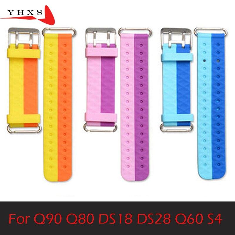 Remplacer Montre Smart Watch Bracelet pour Q750 Q100 Q60 Q80 Q90 de Sangle Enfants GPS Tracker Bracelet Silicone Courroie De Poignet avec connexion