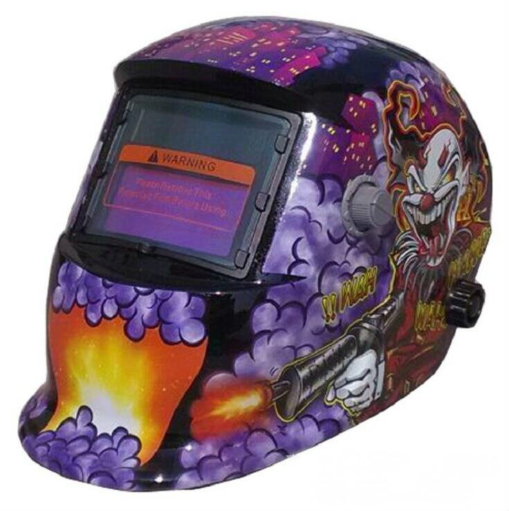 FREE SHPPING 2017 new Clown stickers purple welding cap welding masks welding helmet joker Soldering iron