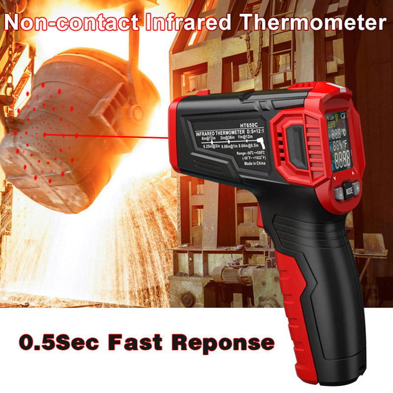 Digital Display Thermometer Humidity Meter Infrared Hygrometer Temperature Pyrometer WWO66
