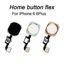 HOUSTMUST 1pcs Home Button with Flex Cable for iPhone 6 4 7 6 plus 5 5 Black White Gold Home button Flex Assembly cheap Apple iPhone