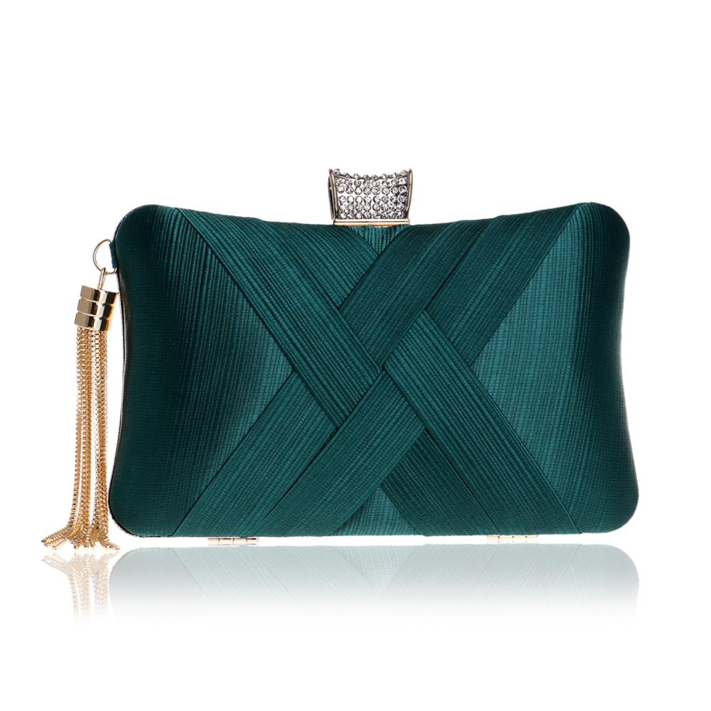 New Arrival Metal Tassel Lady Clutch Bag With Chain Shoulder Handbags Classical Style Small Purse Day Evening Clutch Bags