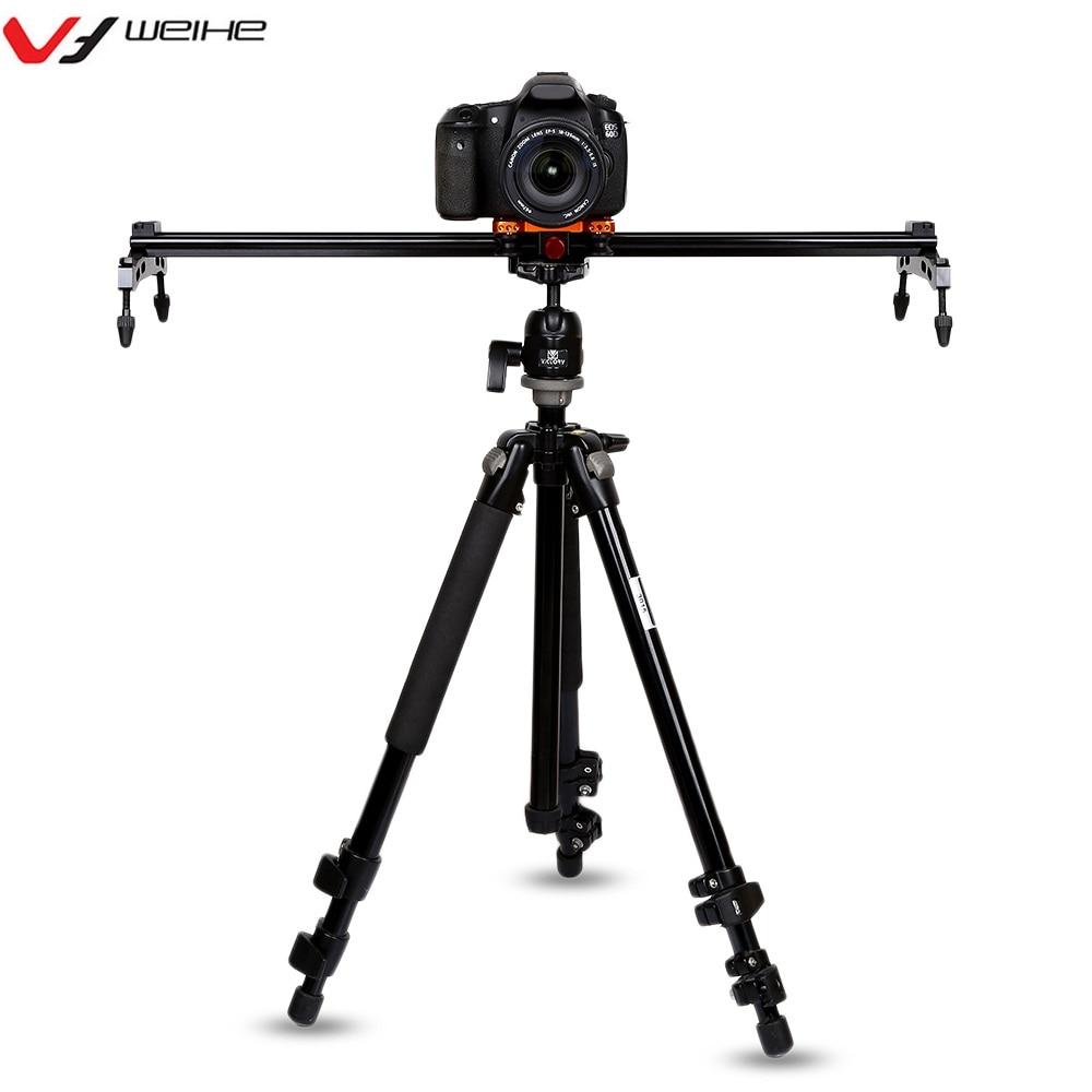WEIHE WH527 см 60 см видео камера слайдер рельсовый Долли трек для sony Nikon Canon DSLR камера видеокамера прочная камера слайдер рельс